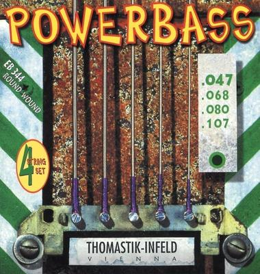Thomastik Saiten für E-Bass Power Bass Magnecore Round Wound Hexcore Satz 5-str. long (EB345)